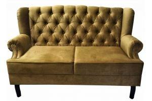 Каминный диван с утяжками 161 - Мебельная фабрика «Мега-Проект»