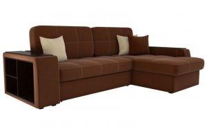 Диван угловой Брюсель рогожка коричневый - Мебельная фабрика «Мебелико»