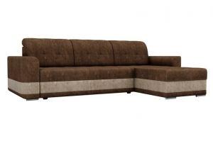 Диван угловой Честер велюр коричневый - Мебельная фабрика «Мебелико»