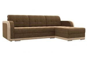 Диван угловой Марсель велюр коричневый бежевый - Мебельная фабрика «Мебелико»