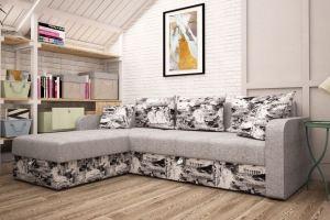 Диван угловой в ткани Микровелюр - Мебельная фабрика «Раевская»