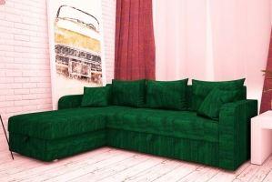 Диван угловой в ткани Шинил - Мебельная фабрика «Раевская»