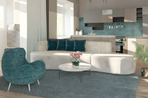 Длинный диван Катрин - Мебельная фабрика «Эвальд»