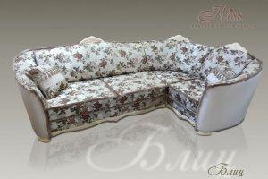 Светлый угловой диван Блиц - Мебельная фабрика «Kiss»