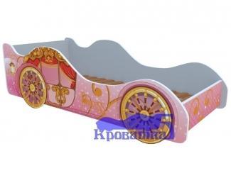 Розовая кровать Карета - Мебельная фабрика «Рим»