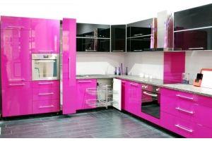 Яркая кухня Эмаль + пластик - Мебельная фабрика «Элна»