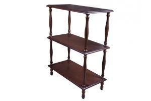 Этажерка П 9 средне-коричневый - Мебельная фабрика «Мебелик»