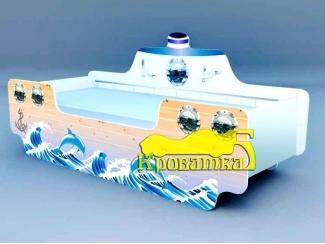 Детская кровать Кораблик Дельфины - Мебельная фабрика «Рим»
