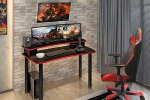 Геймерский стол прямой - Мебельная фабрика «МЭРДЭС»
