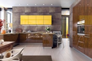 Глянцевый кухонный гарнитур Urbano - Мебельная фабрика «ViVakitchen»
