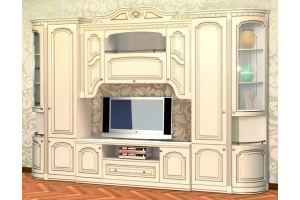 Гостиная Деметра Слоновая Кость - Мебельная фабрика «Кубань-мебель»