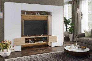 Гостиная Инкастро 2 белый/дуб сонома - Мебельная фабрика «CASE»