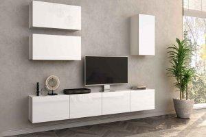 Гостиная Лия 3 белый/белый глянец - Мебельная фабрика «CASE»