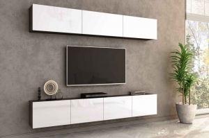 Гостиная Лия 3 венге/белый глянец - Мебельная фабрика «CASE»