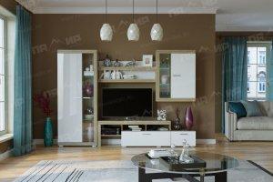 Гостиная Соната 3 Сонома - Белый глянец - Мебельная фабрика «Памир»