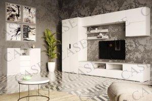 Гостиная Тренто с комодом белый - Мебельная фабрика «CASE»