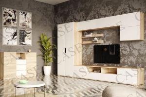 Гостиная Тренто с комодом дуб сонома/белый - Мебельная фабрика «CASE»