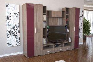 Гостиная Вега RAL 3003 - Мебельная фабрика «Д.А.Р. Мебель»