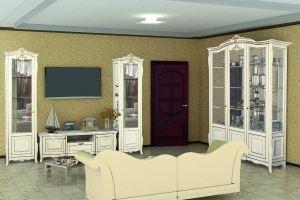Стенка Модульная Виченца (Витрина 1-дв Левая/Правая + Тумба ТV) - Мебельная фабрика «Кубань-мебель»