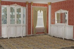 Гостиная Виченца Радиусная (Шкаф посудный радиусный 1670х2260х535) - Мебельная фабрика «Кубань-мебель»