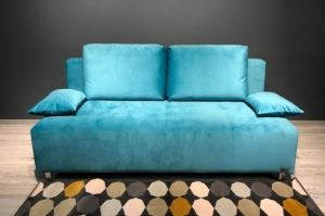 Диван без подлокотников голубой Хьюстон - Мебельная фабрика «Полярис»