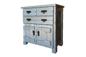 Комод Барин 3 голубой с серебряной патиной - Мебельная фабрика «Кедр-М»
