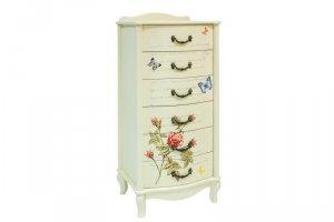Комод Джульетта узкий 6 ящиков с росписью - Мебельная фабрика «Мебель Импэкс»