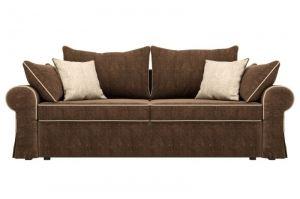 Коричневый диван Элис с бежевыми подушками - Мебельная фабрика «Мебелико»