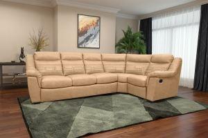 Коричневый диван Фрэнк угловой - Мебельная фабрика «Полярис»