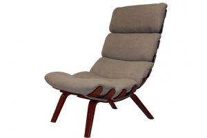 Кресло Ессей ткань какао, каркас вишня - Мебельная фабрика «Мебелик»
