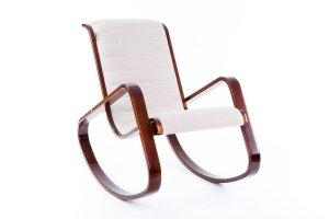 Кресло-качалка Арно ткань миндаль, каркас вишня - Мебельная фабрика «Мебелик»