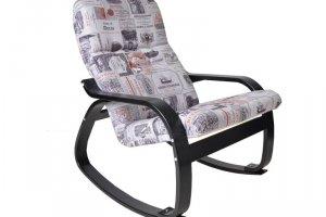 Кресло-качалка Сайма ткань винум 03, каркас венге - Мебельная фабрика «Мебелик»
