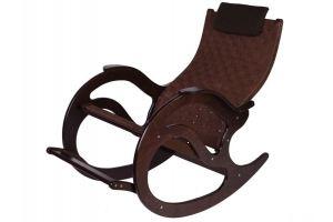Кресло-качалка Тенария 2 темно-коричневый/каркас темно-коричневый - Мебельная фабрика «Мебелик»
