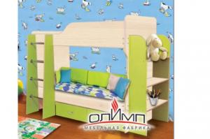 Кровать 2-х ярусная с полками и ящиками - Мебельная фабрика «Олимп»