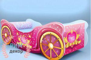 Кровать для девочки Принцесса карета - Мебельная фабрика «Рим»