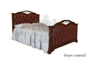 Кровать Генуя с ковкой - Мебельная фабрика «Каприз»