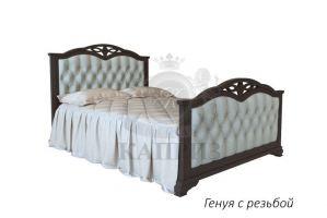 Кровать Генуя с резьбой - Мебельная фабрика «Каприз»