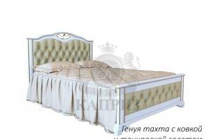 Кровать Генуя тахта с ковкой и золотой тонировкой - Мебельная фабрика «Каприз»