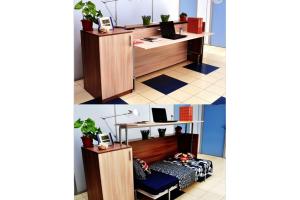 Кровать-стол Аделия с тумбой - Мебельная фабрика «МебельГрад (мебель трансформер)»