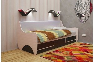 Кровать детская ЛДСП Урбани 1 - Мебельная фабрика «А-Элита»
