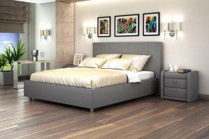 Кровать серая Вита - Мебельная фабрика «Мелодия сна»
