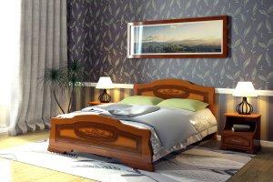 Кровать взрослая в спальню Болеро - Мебельная фабрика «DM - DarinaMebel»