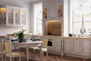 Кухня Мишель Шампань в классическом стиле - Мебельная фабрика «Энли»