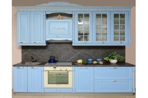 Кухня прямая голубая Мария - Мебельная фабрика «Бобр»