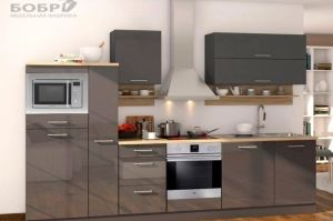 Кухня прямая серая Mate - Мебельная фабрика «Бобр»