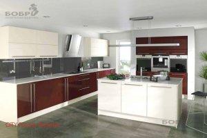 Кухня с островом City - Мебельная фабрика «Бобр»