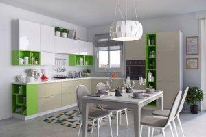 Кухня с открытыми модулями Радуга - Мебельная фабрика «Эстель»