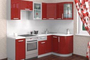 Глянцевая красная кухня Елена - Мебельная фабрика «Д.А.Р. Мебель»
