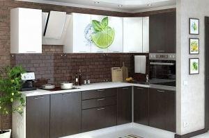 Кухня угловая Арт фотопечать - Мебельная фабрика «Сурская Мебель»