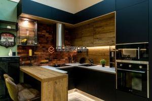 Кухня угловая Cleaf и Fenix - Мебельная фабрика «ELEGRUM»